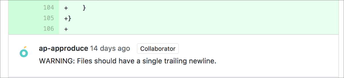 SwiftLintの指摘例
