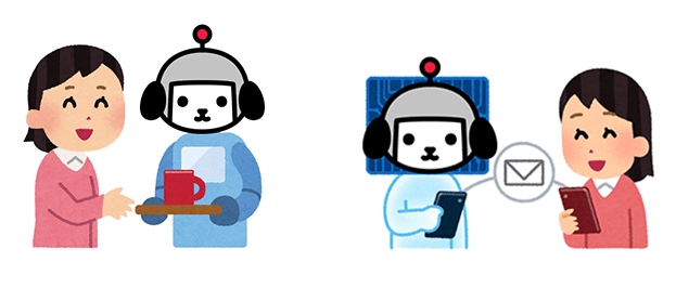 キャラクターと直接コミュニケーションを取れる未来