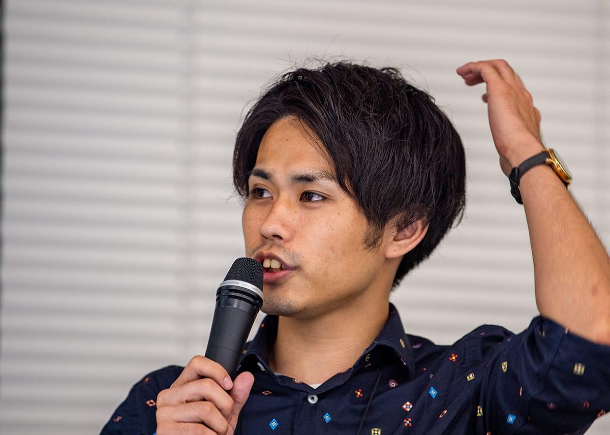 登壇者向井さんの写真