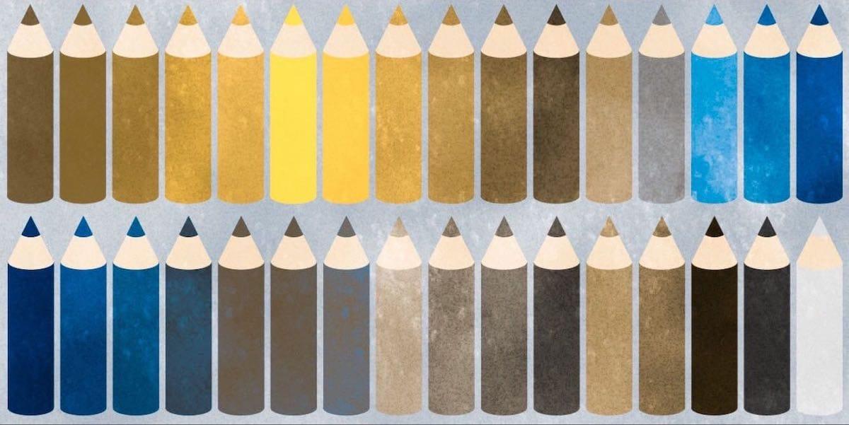 1型2色覚の人の色の見え方
