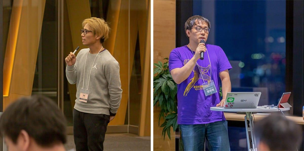 冒頭の説明をする運営の二人(写真左:中川、写真右:中嶋)