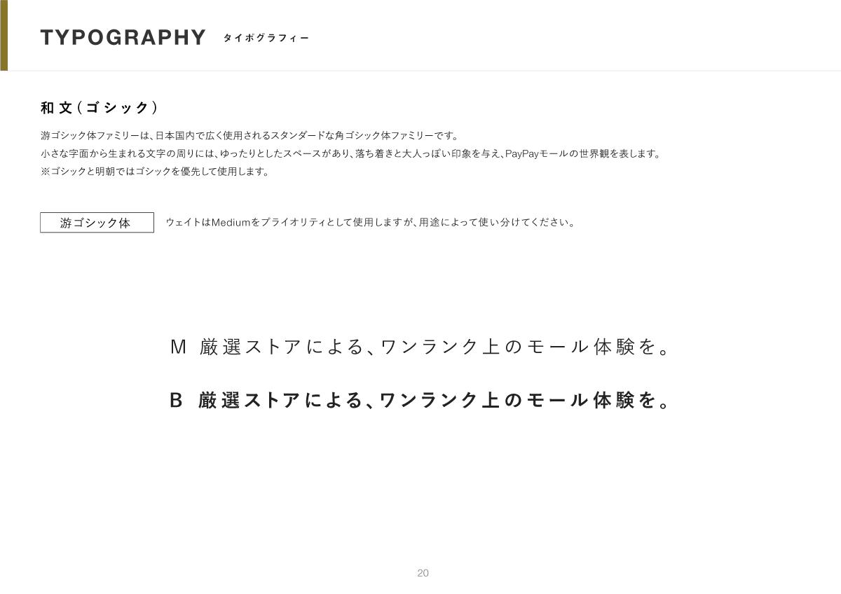 タイポグラフィーの説明