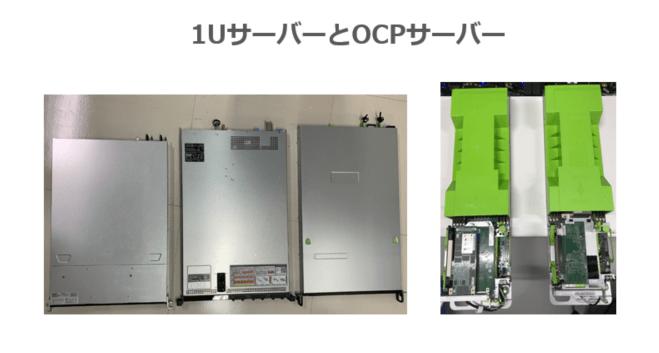 1UサーバーとOCPサーバー
