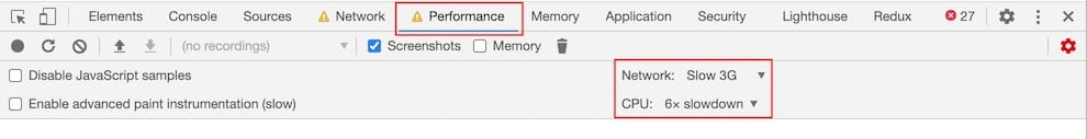 Chrome DevToolsのPerformanceTab
