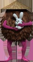 いつも雪で作ったウサギを抱えている snowrabby(スノラビー)