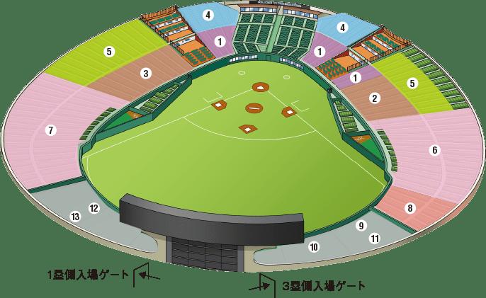 メットライフドーム座席図