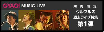 GYAO! MUSIC LIVE 期間限定 ウルフルズ過去ライブ特集 第1弾