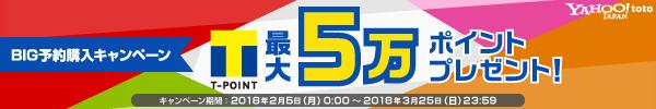 \最大50,000ポイント当たる/ BIG予約購入キャンペーン実施中!