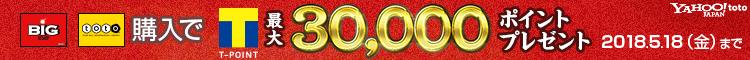 Tポイント最大30,000ポイントプレゼント! Yahoo! toto