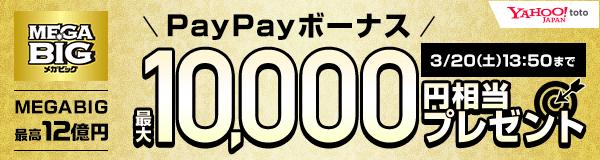 MEGA BIGは毎週1等最高12億円! 今ならBIG系くじ購入でPayPayボーナスが当たる!!