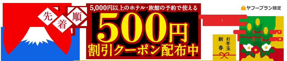 500円割引クーポン配布中