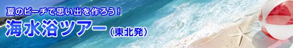 夏のビーチで思い出を作ろう! 海水浴ツアー(東北発)