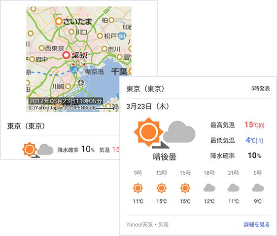 天気・災害 画面イメージ