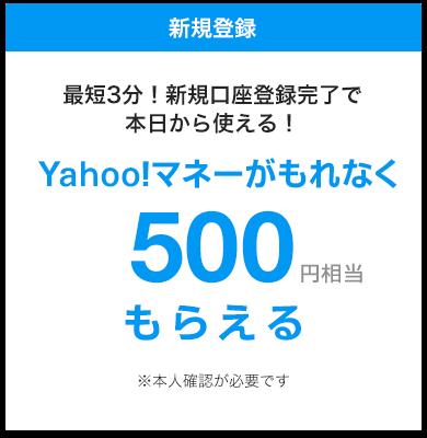 最短3分!新規登録完了で本日から使える!もれなく500円もらえる!