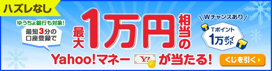 最大1万円相当のYahoo!マネーが当たる!
