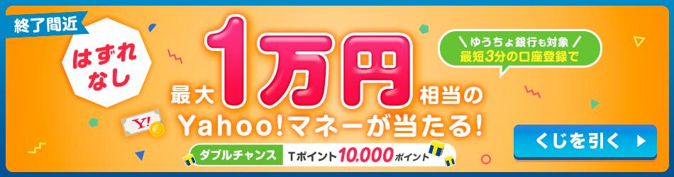 Y!マネーキャンペーン 11/14~開始