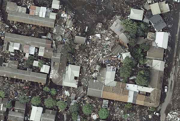 チリ巨大地震:津波直後の震源付近