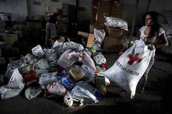 チリ巨大地震:各地につめ跡