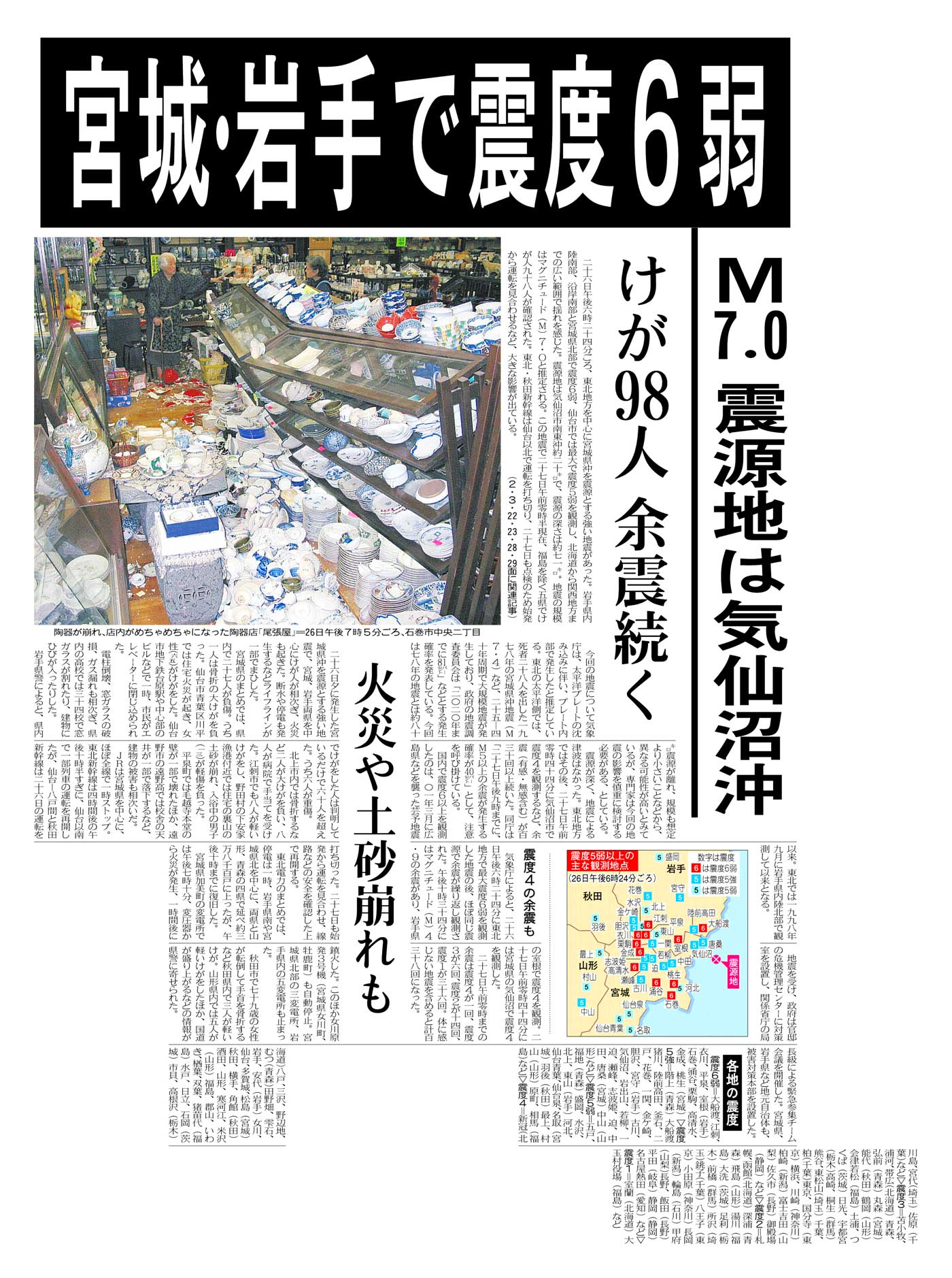 宮城県沖の地震(2003年)
