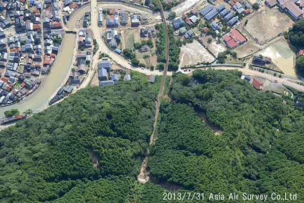 萩市須佐地区の状況(2013年7月31日撮影)