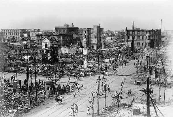 関東大震災:築地(1923年9月)
