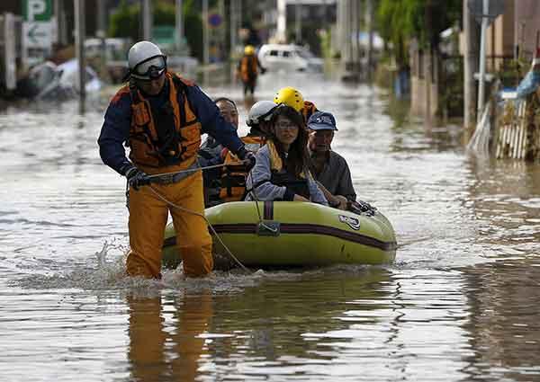 台風18号が列島縦断:茨城・栃木で記録的大雨