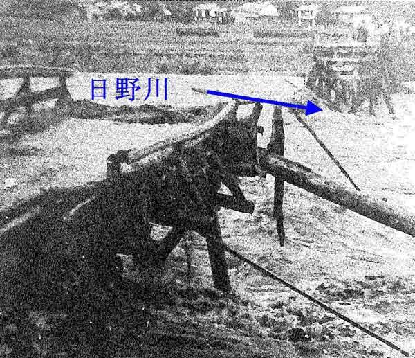 平成20年9月枕崎台風により日野川の洲河崎橋梁が落橋:日野川において、死者6名、床上浸水445戸、床下浸水1,802戸の被害が発生