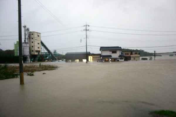 兵庫県加東市浸水状況