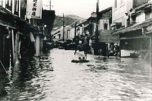 京都府南丹市八木町浸水状況