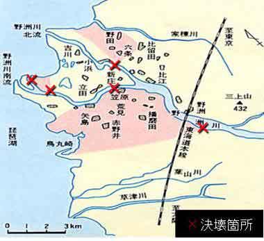 野洲川決壊箇所位置図