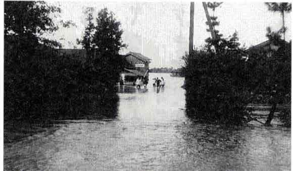 滋賀県守山市洲本浸水状況