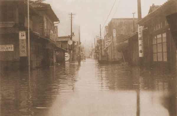 東郷町浸水状況:死者・行方不明者(52名)、家屋全半壊・流出(283戸)、床上浸水(5,874戸)、床下浸水(7,448戸)