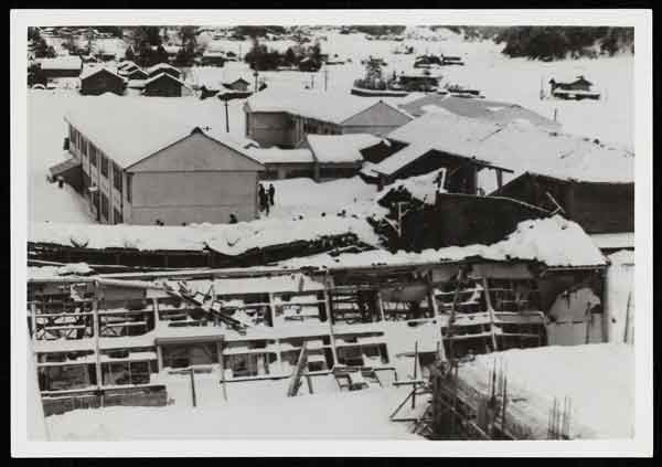 福井県に於ける「38・1豪雪」被害状況写真