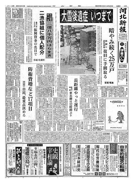 河北新報 昭和55年(1980年)12月26日(金曜日)朝刊