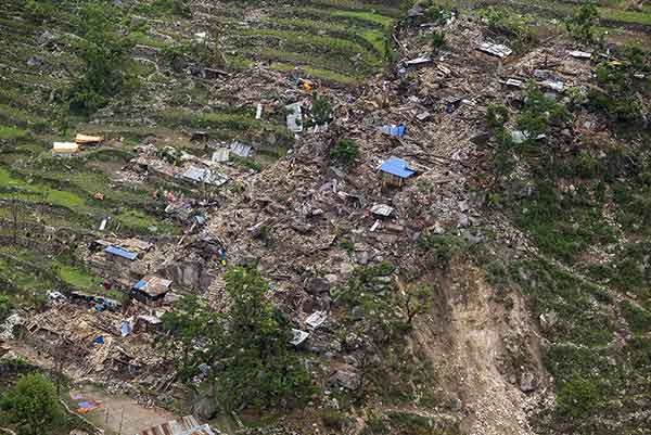 ネパールでM7.8の地震(2015年5月1日)