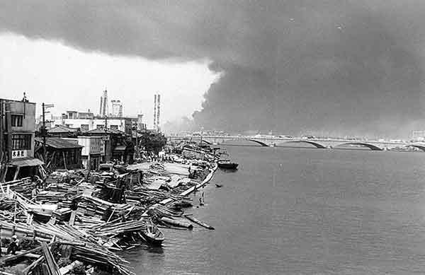 八千代橋下流左岸(撮影日時:1964年6月18日13:00)