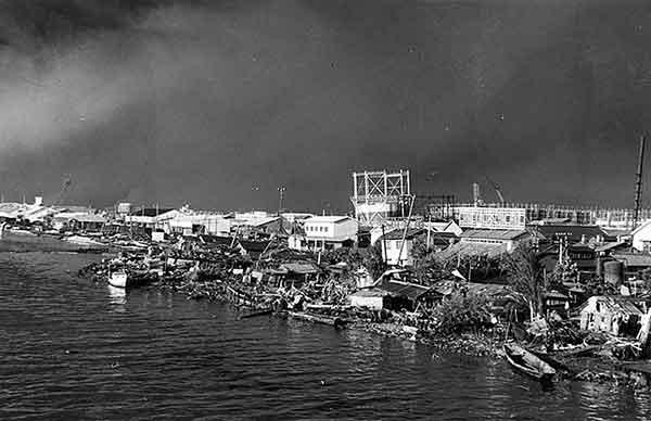 万代橋下流右岸(撮影日時:1964年6月17日)