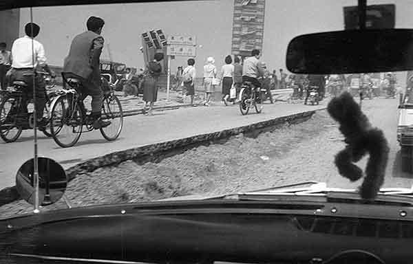 万代橋取付道路 東新潟側(撮影日時:1964年6月18日)