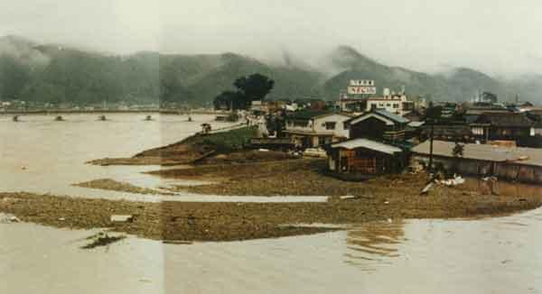 昭和47年7月梅雨前線による馬洗川堤防の決壊:江の川の観測史上最大の洪水