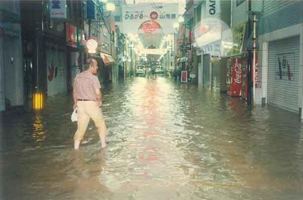 薩摩川内市浸水状況:家屋全半壊・流出(13戸)、床上浸水(170戸)、床下浸水(423戸)