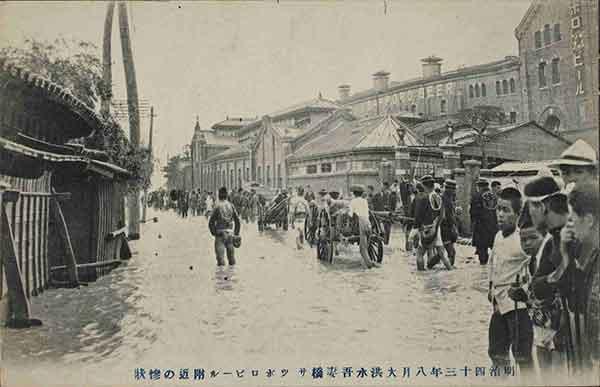 吾妻橋サッポロビール付近の惨状