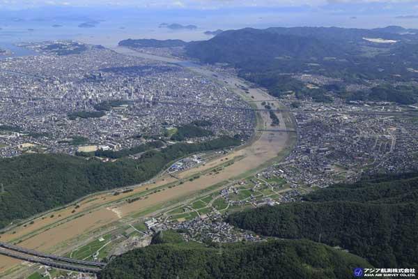 広島県福山市 芦田川(2018年7月8日撮影)