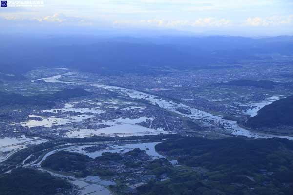 岡山県倉敷市真備町付近(2018年7月8日撮影)