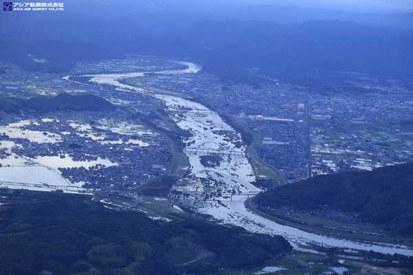 岡山県総社市付近 高梁川(2018年7月8日撮影)