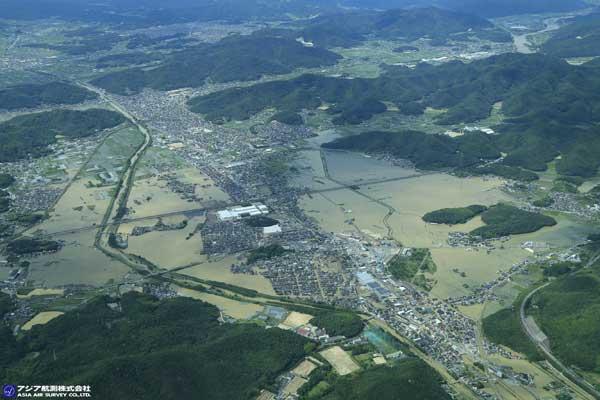 岡山市東区平島付近 砂川(2018年7月8日撮影)