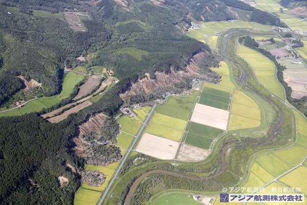 吉野地区を南方向から撮影(2018年9月6日撮影)