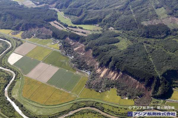 吉野地区を南東方向から撮影(2018年9月6日撮影)