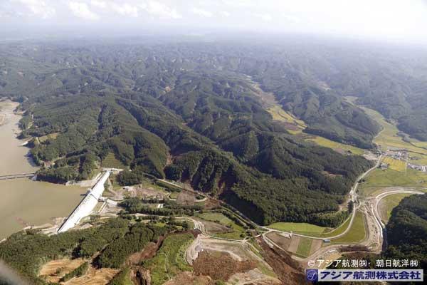 厚幌ダム右岸側から撮影(遠景)(2018年9月6日撮影)