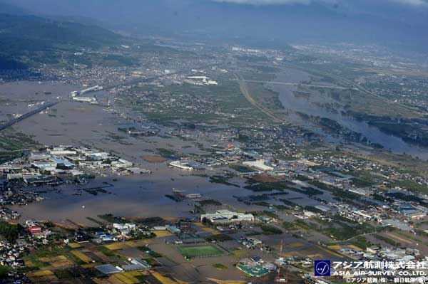 北長野上空より撮影(2019年10月13日撮影)