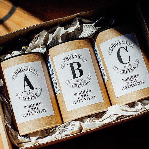 オーガニックコーヒー3種の写真